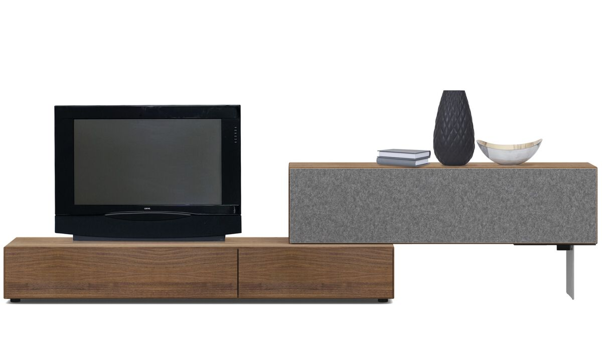 Tv units - Lugano base cabinet with drop-down doors - Speaker front