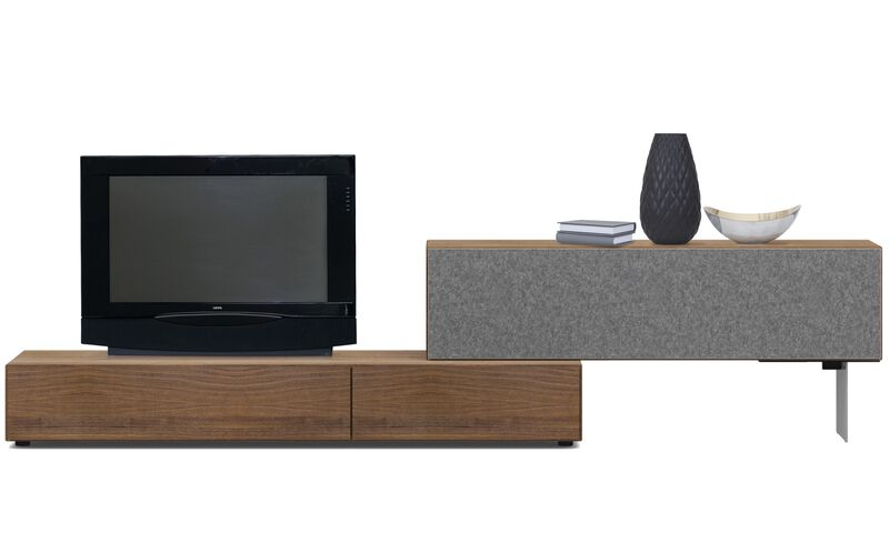 meubles tv meuble lugano avec portes abattantes boconcept. Black Bedroom Furniture Sets. Home Design Ideas