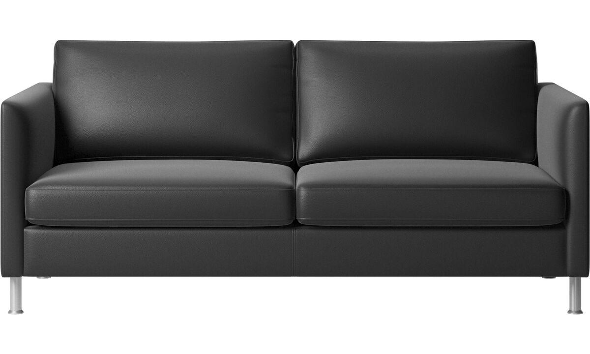 2½ istuttavat sohvat - Indivi-sohva - Musta - Nahka