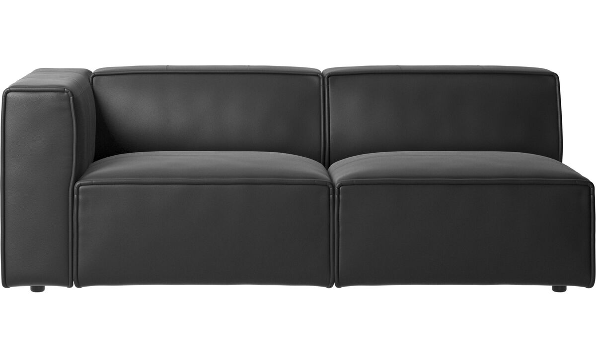 2.5 seater sofas - Carmo sofa - Black - Leather