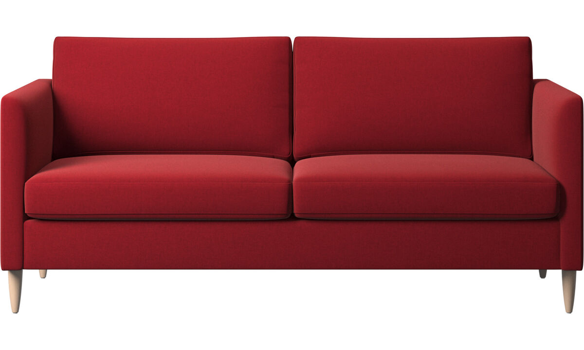 Sofás de 2 lugares e meio - sofá Indivi - Vermelho - Tecido