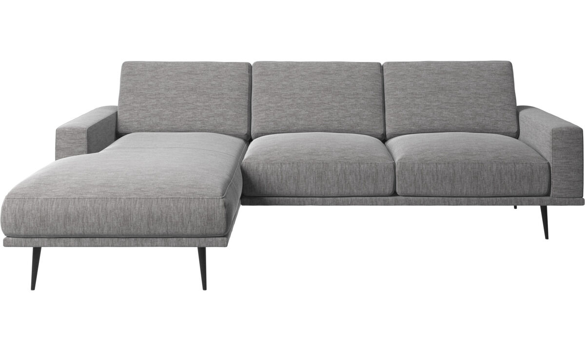Chaise lounge sofas - Carlton sofa with resting unit - Gray - Fabric