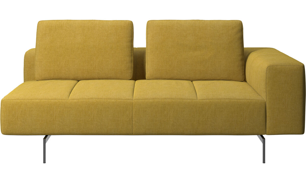 2.5 seater sofas - Amsterdam 2,5 seating module, armrest right - Yellow - Fabric