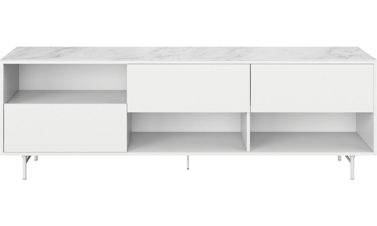 Sideboards - Manhattan sideboard with top plate - White - Wood