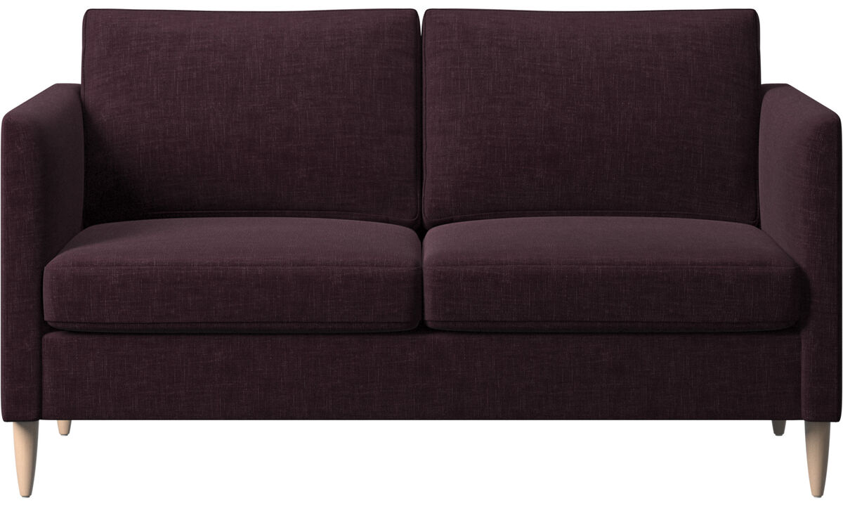 2 seater sofas - Indivi sofa - Red - Fabric