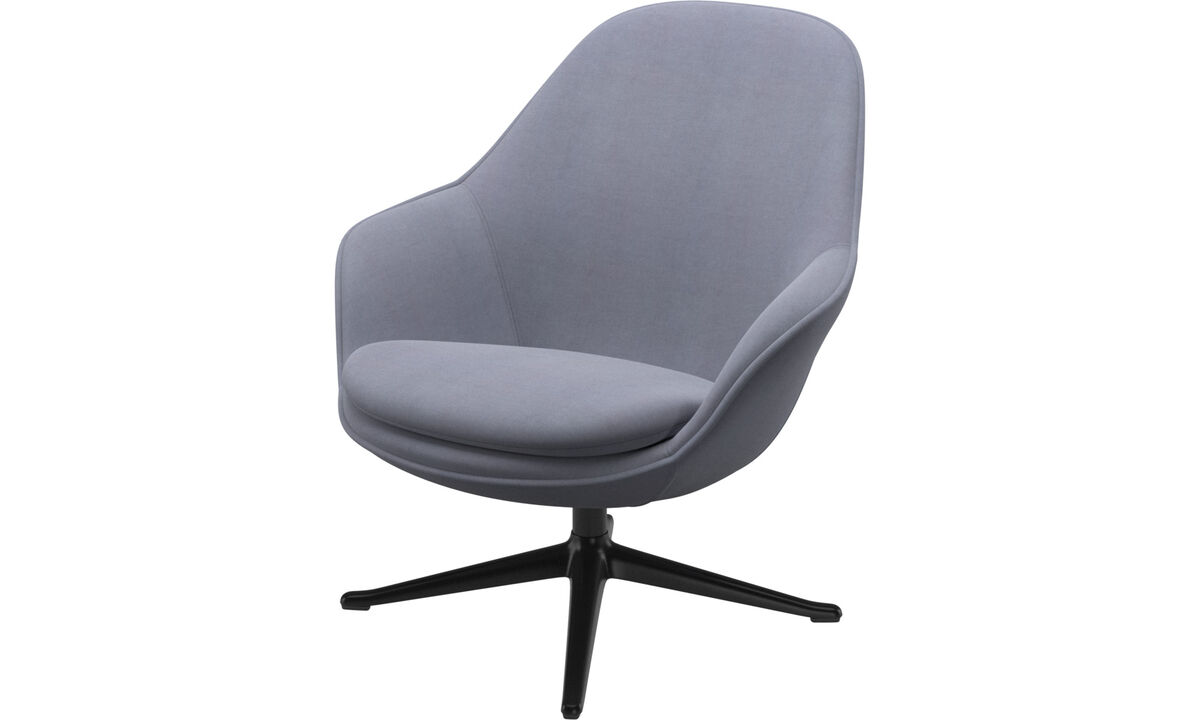 Armchairs - Adelaide living chair - Blue - Fabric