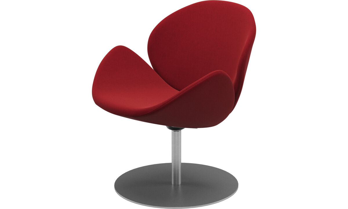 Armchairs - Ogi chair with swivel function - Red - Fabric
