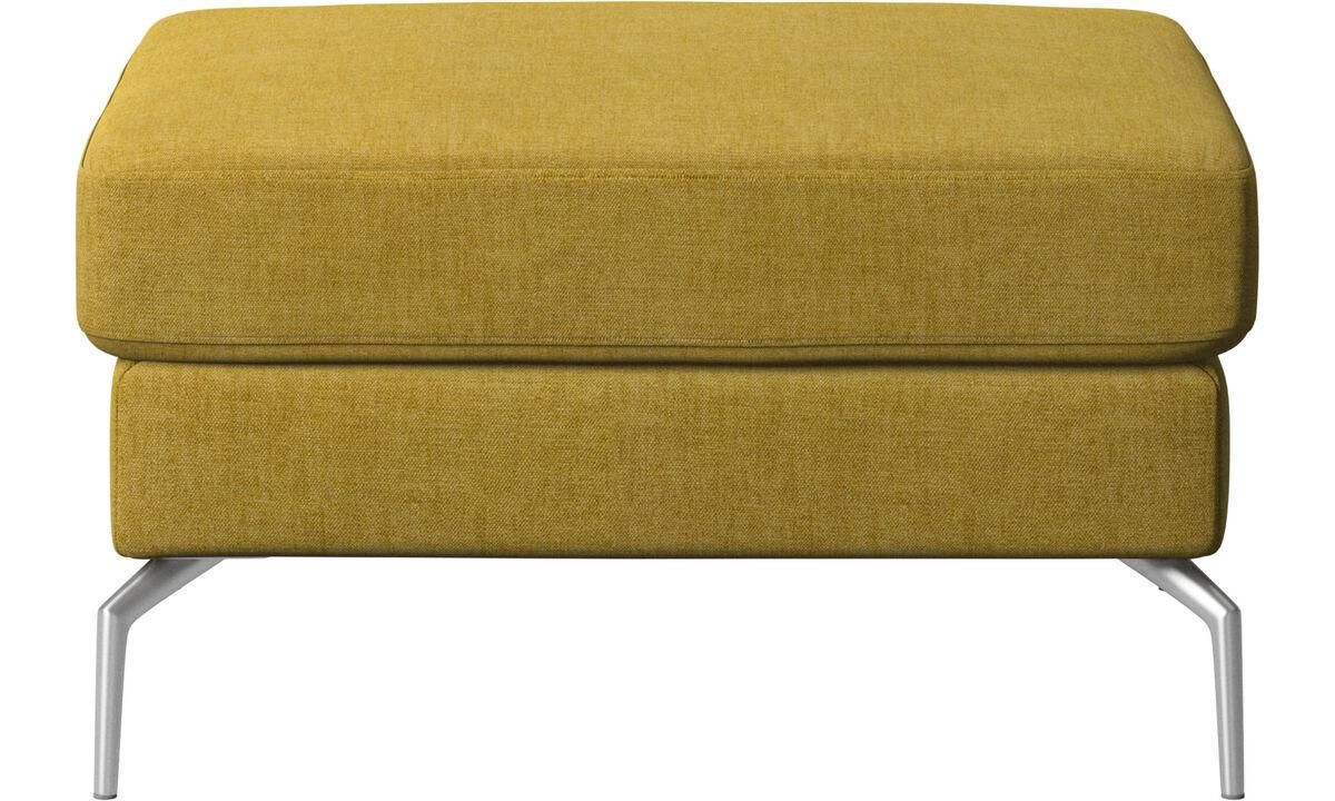 Footstools - Osaka footstool, regular seat - Yellow - Fabric
