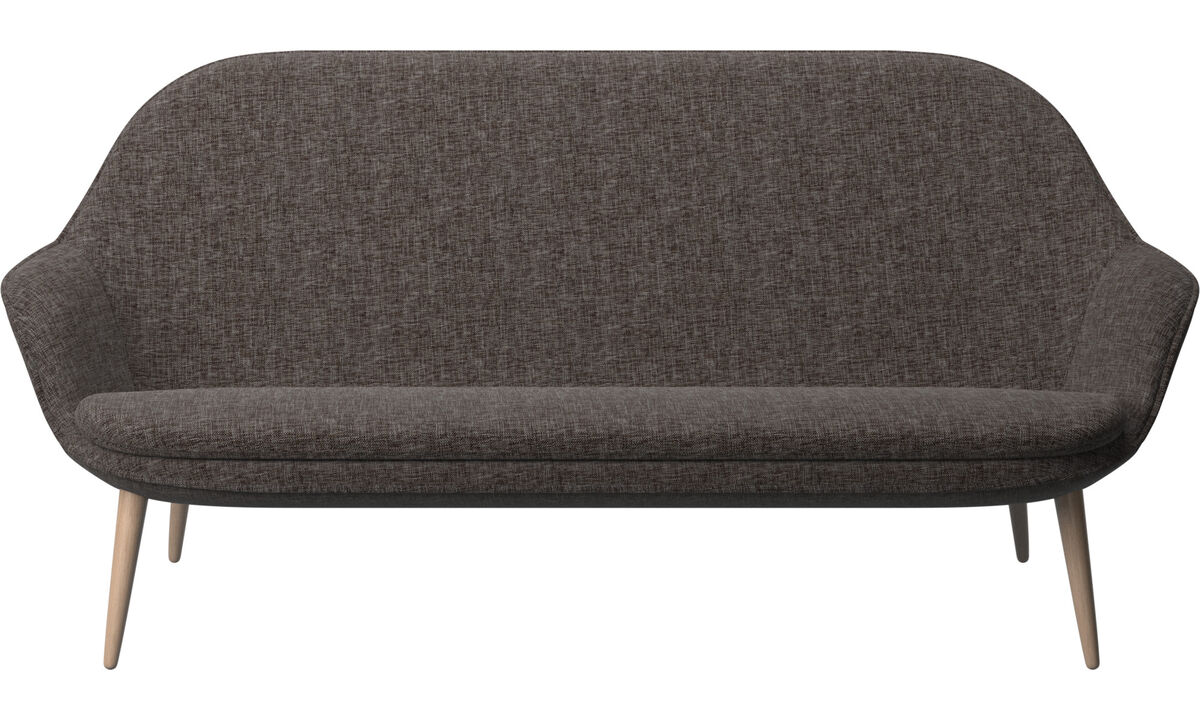 Sofás de 2 plazas y media - sofá Adelaide - En marrón - Tela