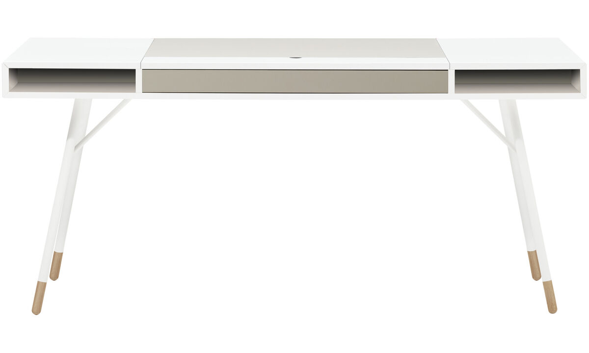 Work in style – Save 10% - Cupertino desk - square - White - Lacquered