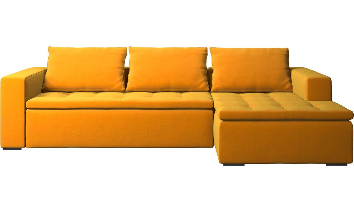 Chaise lounge sofas - Mezzo sofa with resting unit - Orange - Fabric