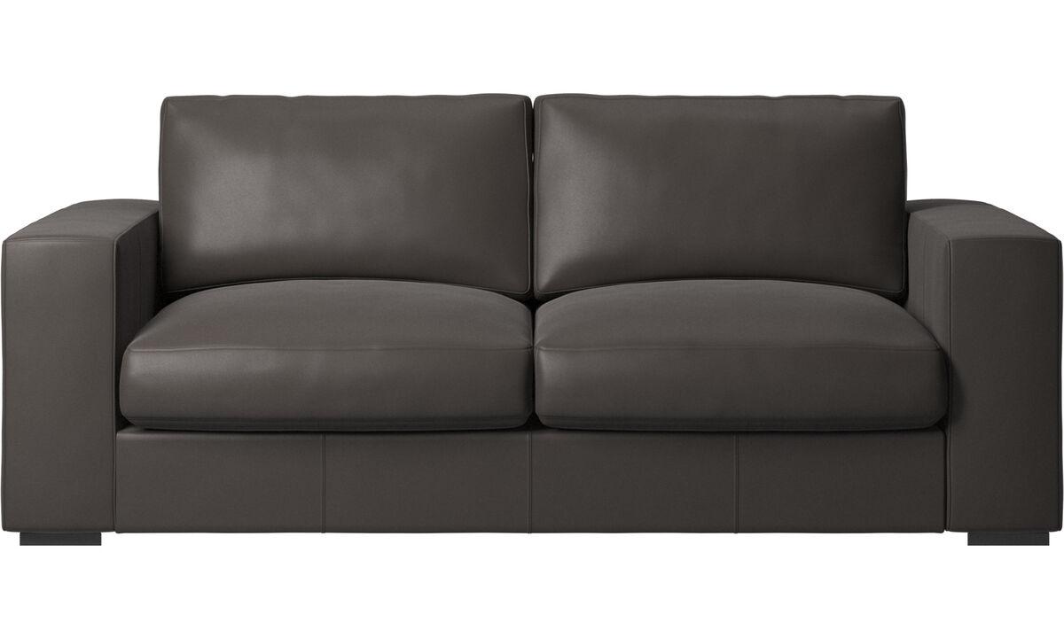 2.5 seater sofas - Cenova sofa - Brown - Leather