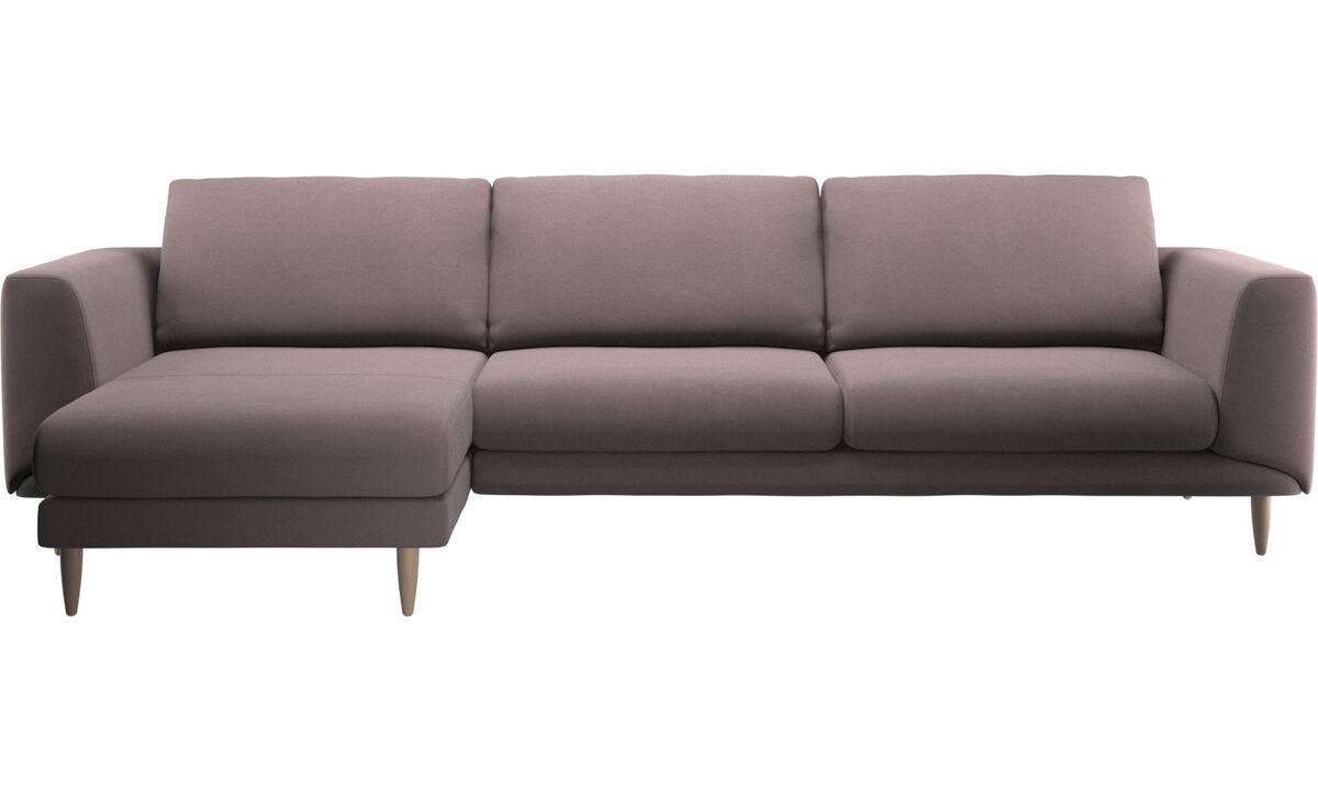 Sofás con chaise longue - Sofá Fargo con módulo chaise-longue - Morado - Tela