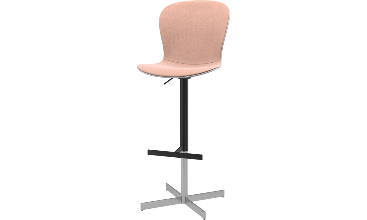 Bar stools - Adelaide barstool with gas cartridge - Red - Fabric