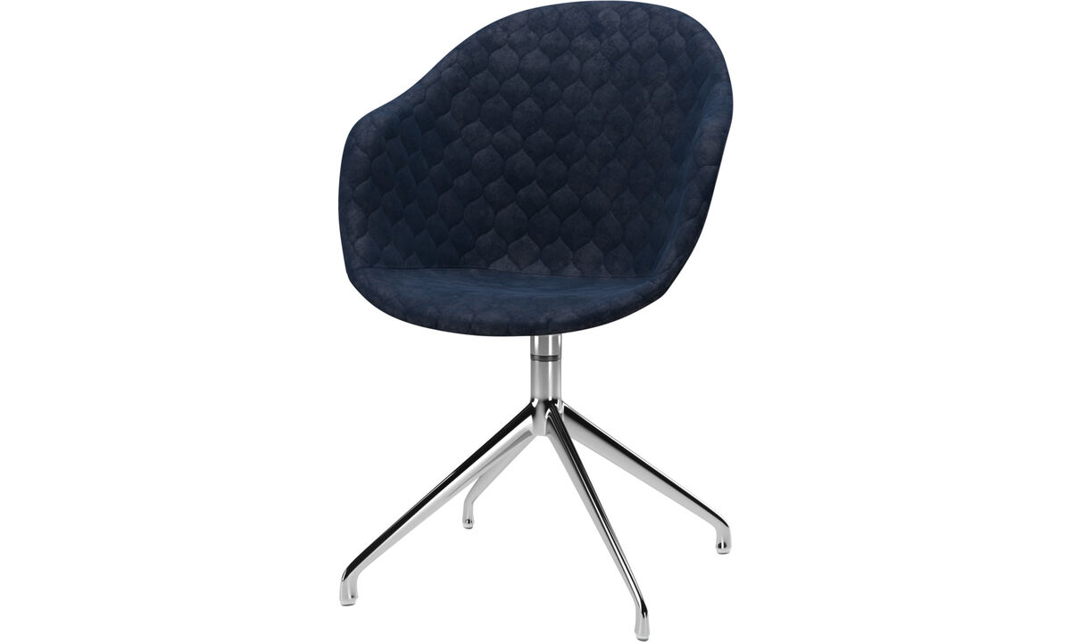 New designs - Adelaide chair with swivel function - Blue - Fabric