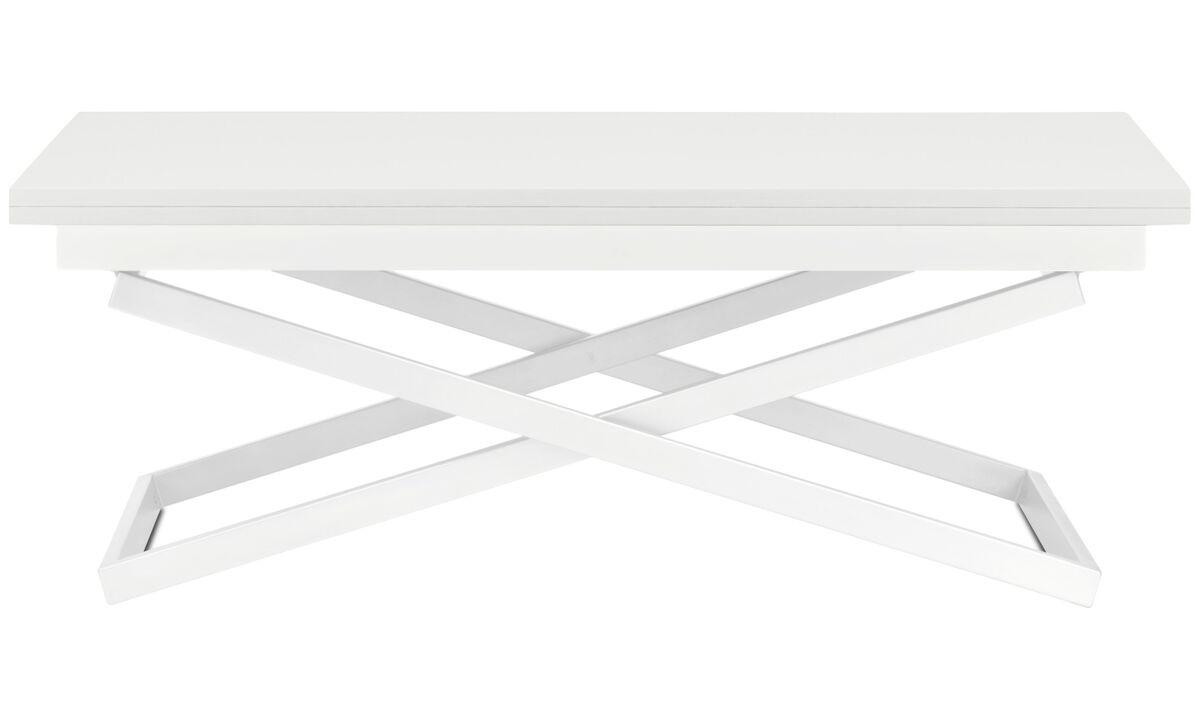 Couchtische - Rubi verstellbarer Tisch (in Höhe und Größe) - rechteckig - Weiß - Lack