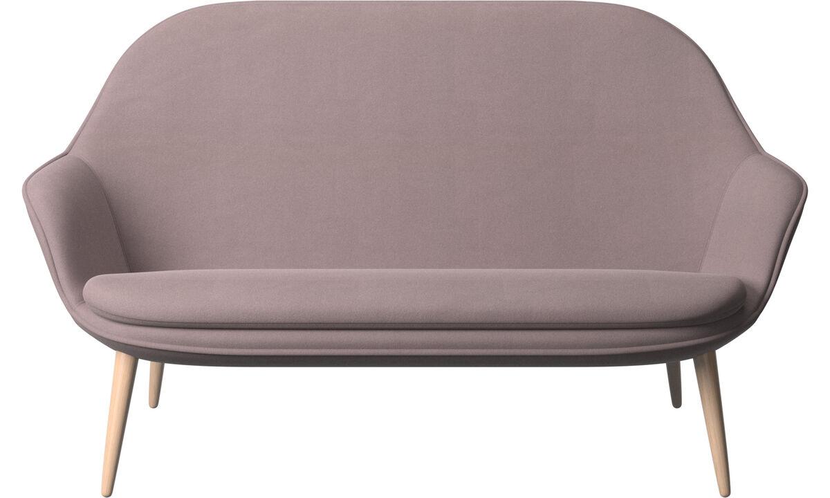 Sofás de 2 plazas - sofá Adelaide - Morado - Tela