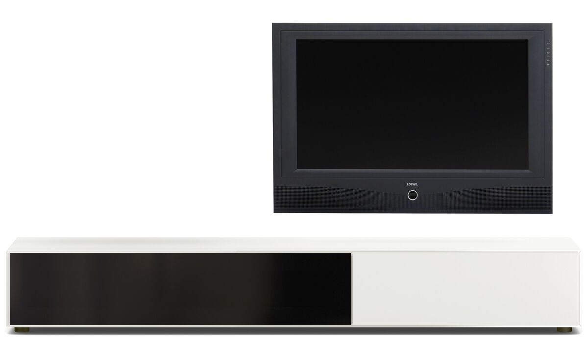 Tv units - Lugano base cabinet with drawer and drop-down door - Lacquered