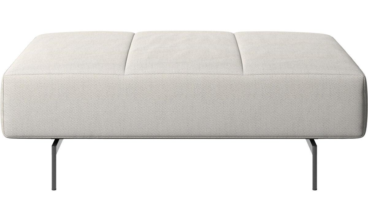 软垫凳 - Amsterdam 座垫 - 白色 - 布艺