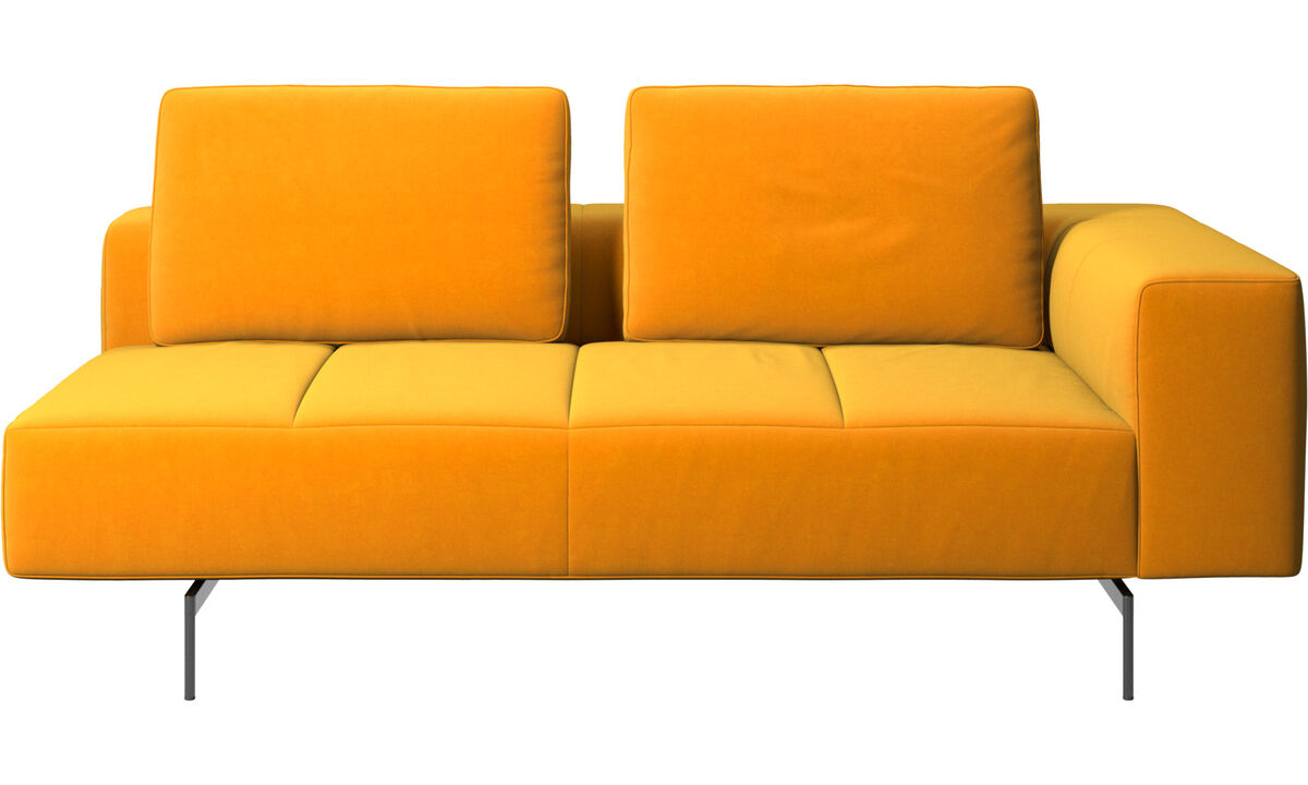 2.5 seater sofas - Amsterdam 2,5 seating module, armrest right - Orange - Fabric