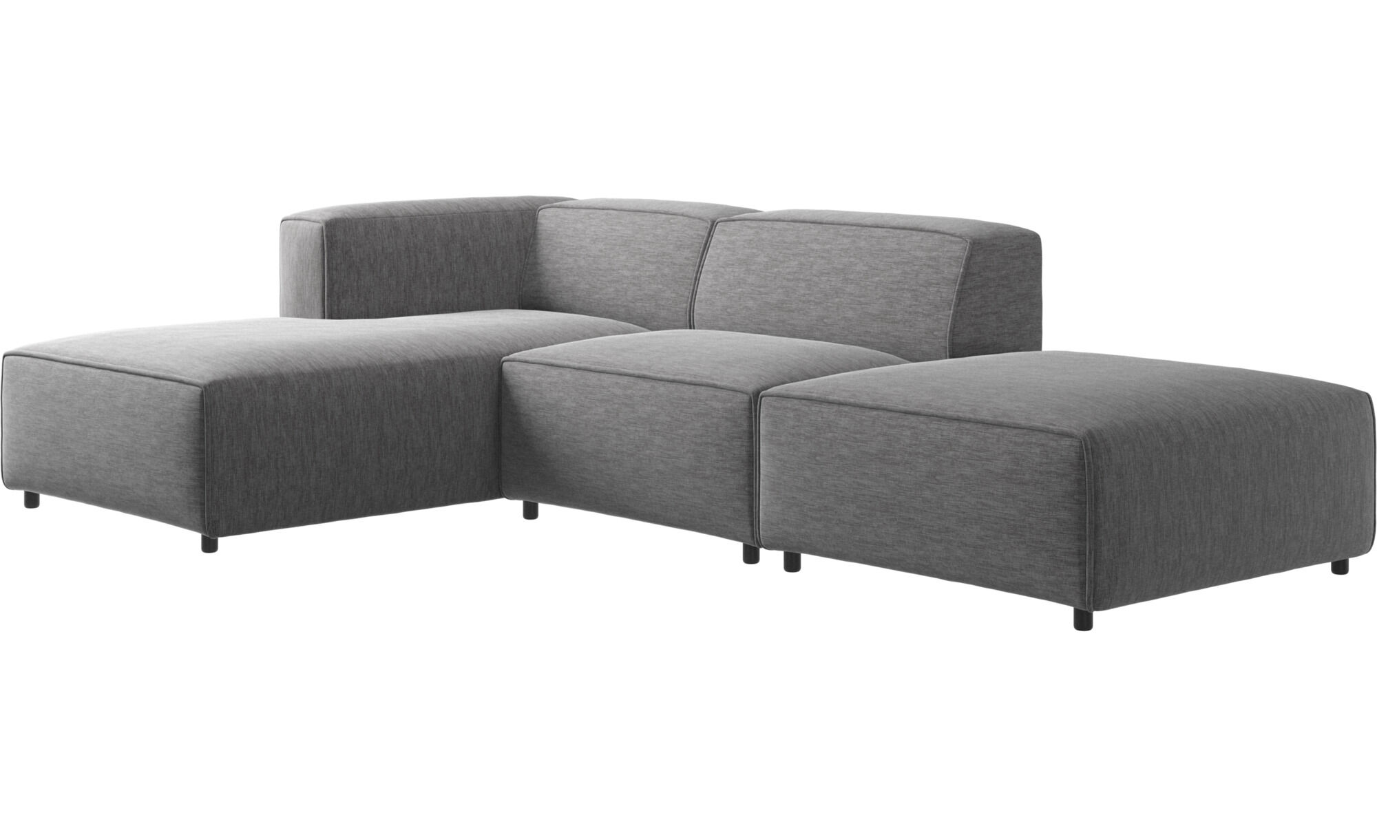 ... Chaise Lounge Sofas   Carmo Sofa With Lounging And Resting Unit   Gray    Fabric ...