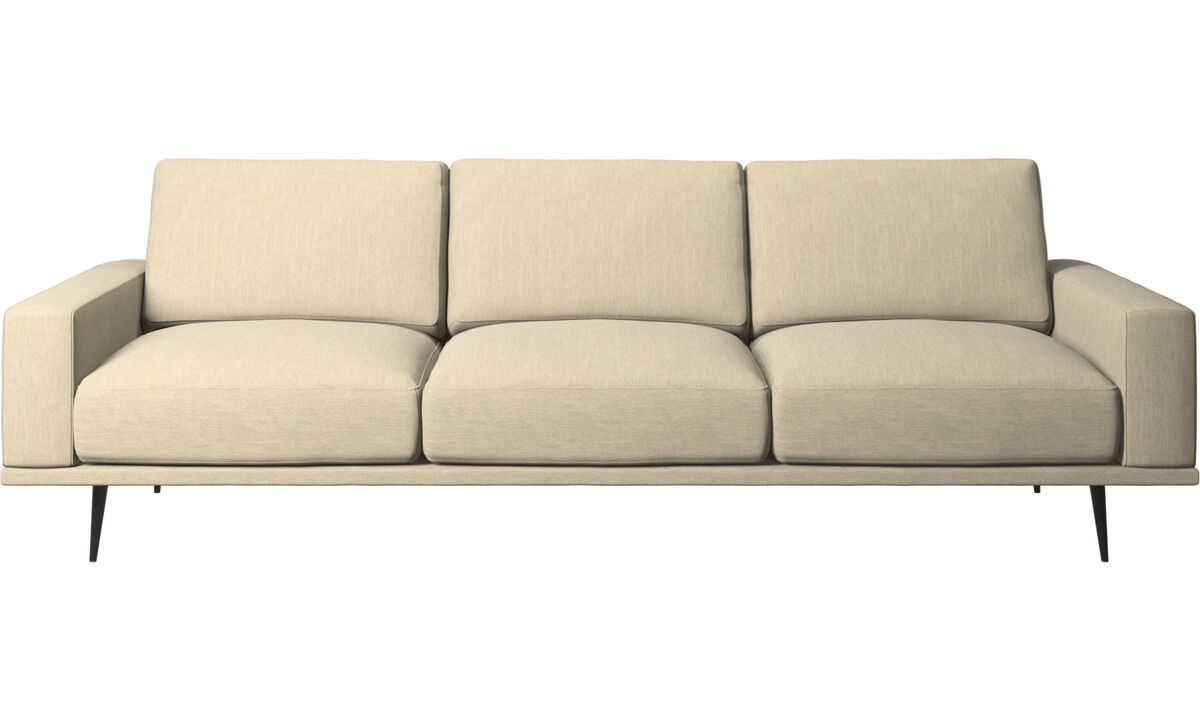 3 seater sofas - Carlton sofa - Brown - Fabric