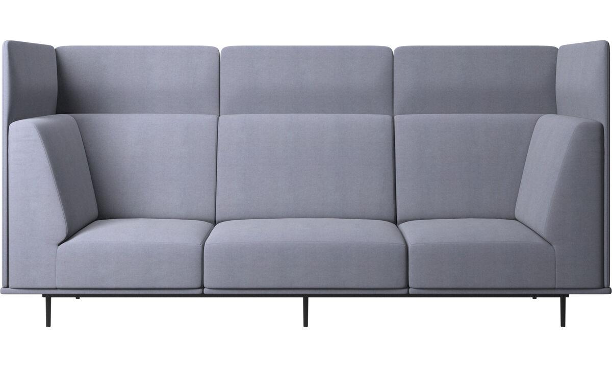 3 θέσιοι καναπέδες - Καναπές Toulouse - Μπλε - Ύφασμα