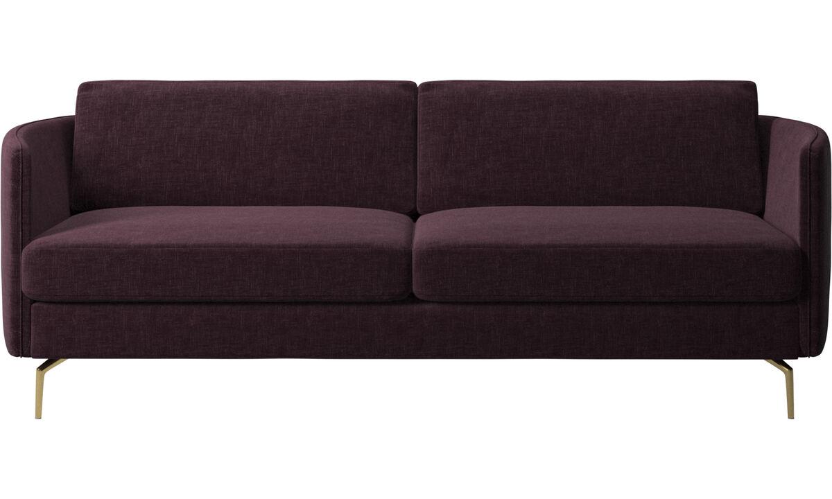 Canapés 2 places et demi - canapé Osaka, assise classique - Rouge - Tissu
