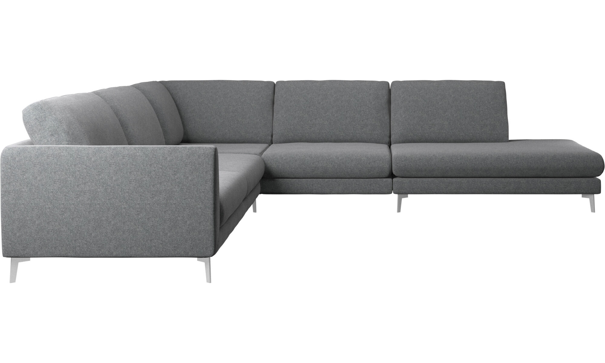 Incroyable Sofas With Open End   Fargo Corner Sofa With Lounging Unit   Gray   Fabric  ...