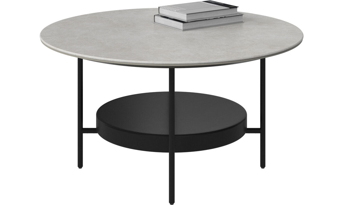 Coffee tables - Madrid coffee table - round - Gray - Ceramic