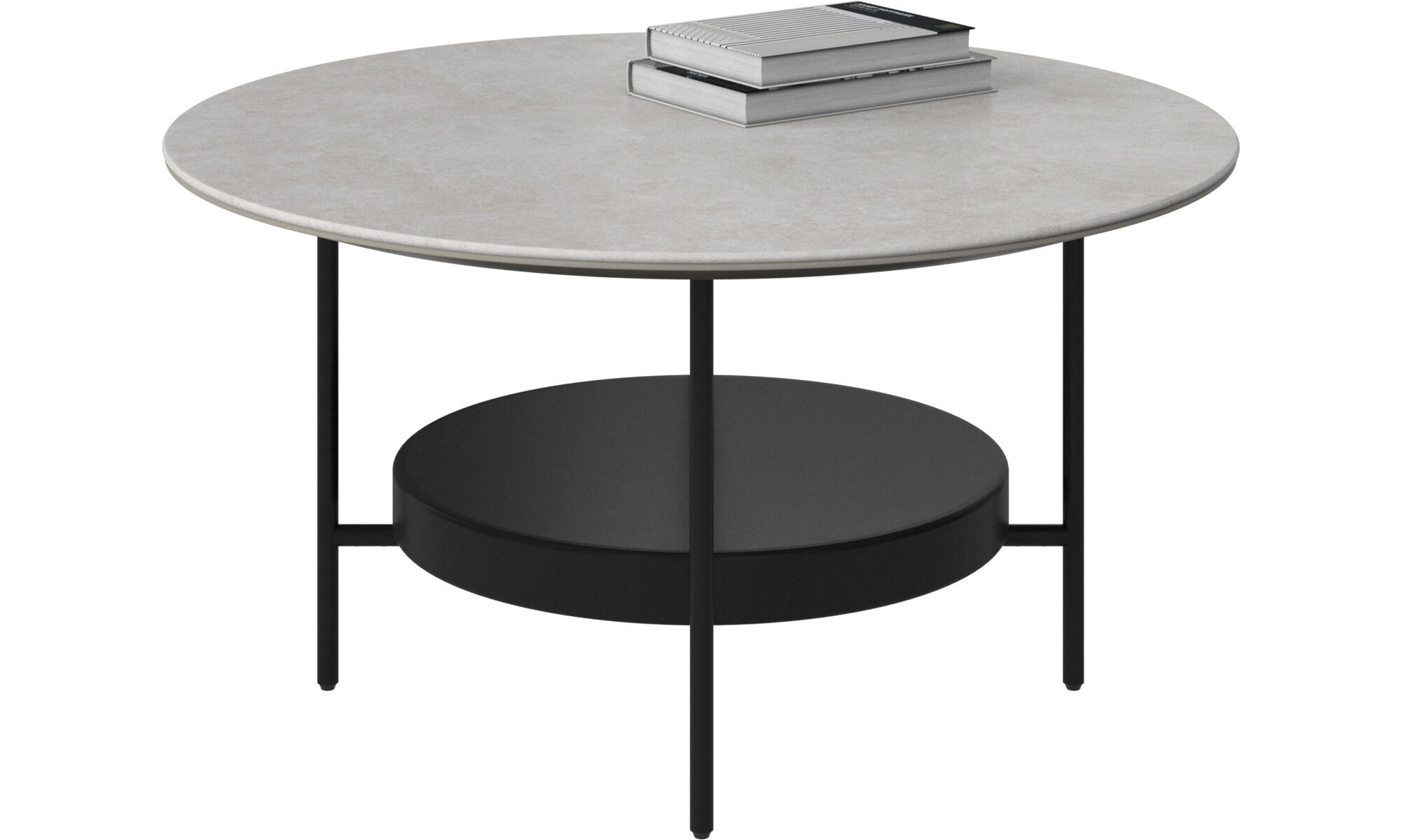 Coffee Tables   Madrid Coffee Table   Round   Gray   Ceramic