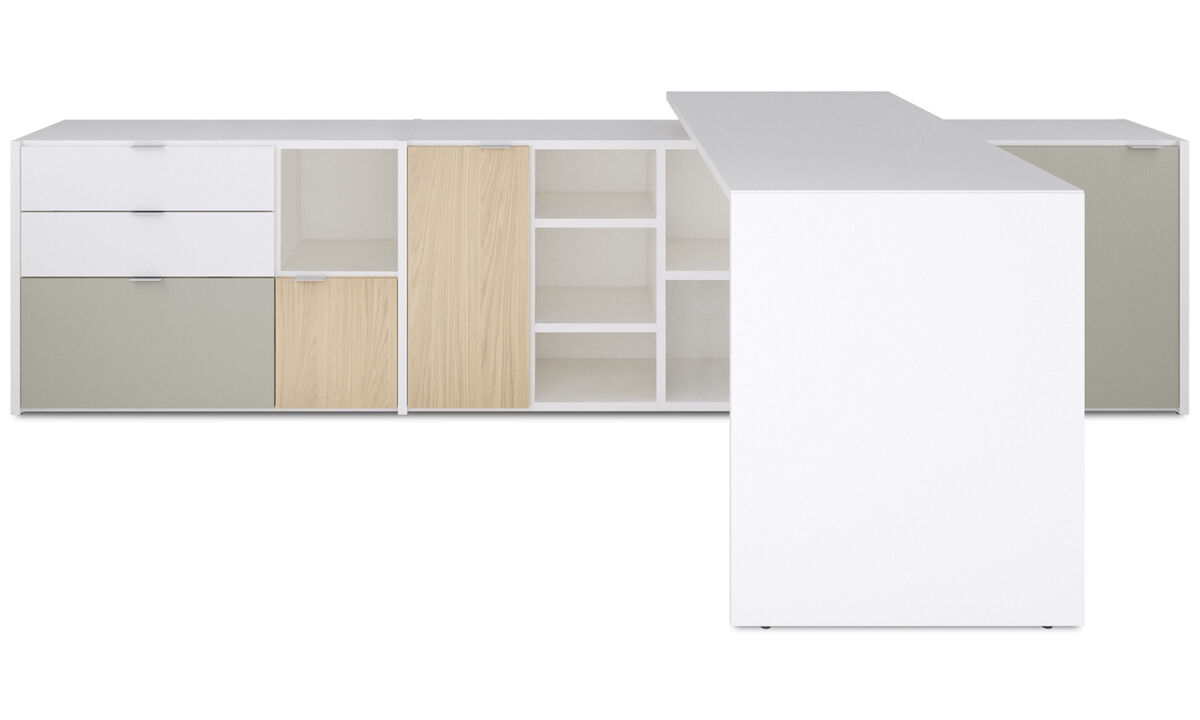Office storage - Copenhagen office system - White - Lacquered