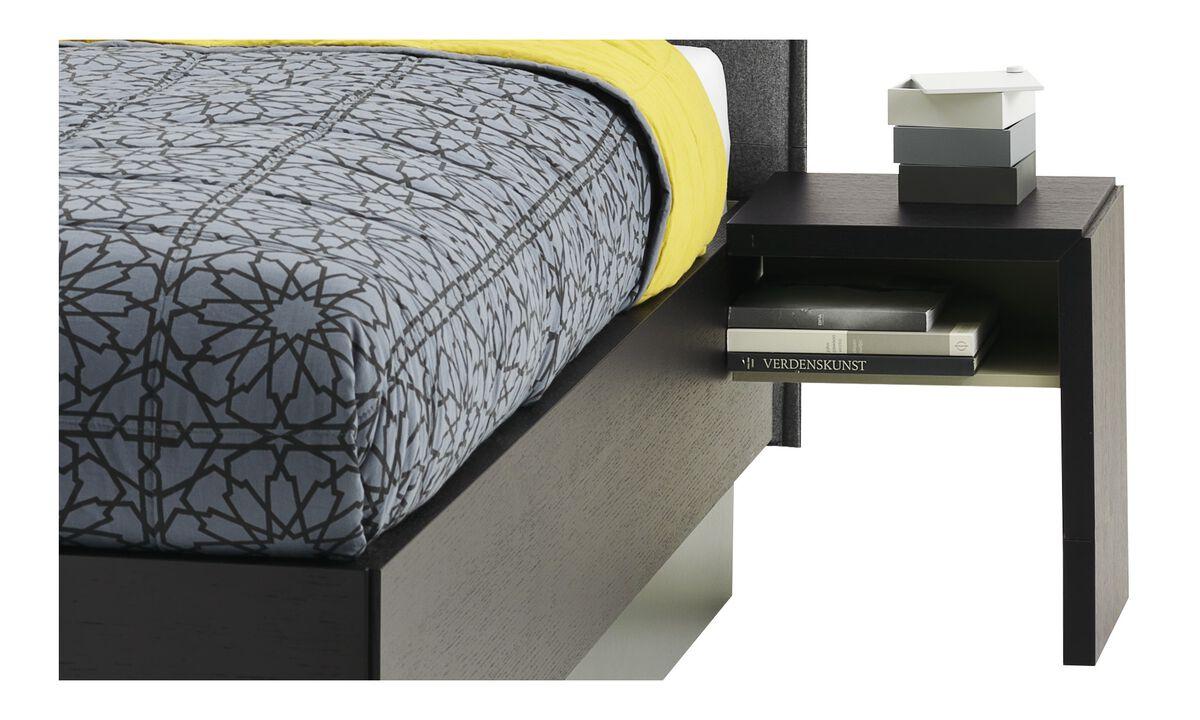 Night stands - Lugano nightstand - rectangular - Black - Oak