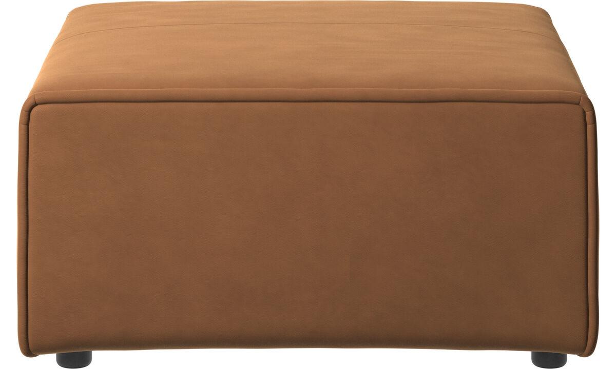 Modulære sofaer - Carmo puf - Brun - Læder