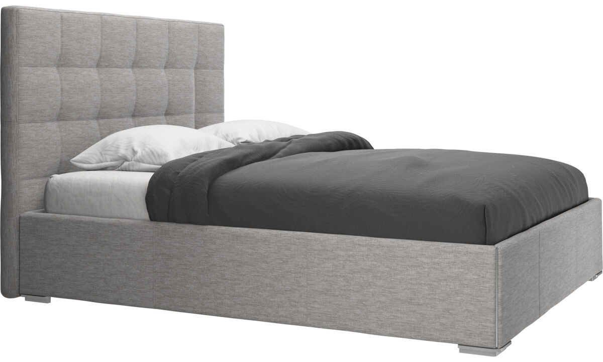 New beds - Mezzo bed, excl. mattress - Grey - Fabric