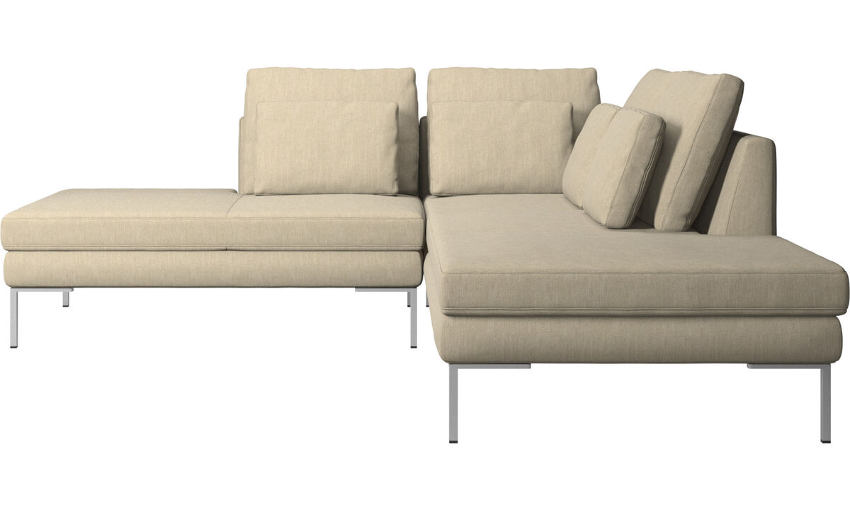 Sofas with open end - Istra 2 divano con lounge - Marrone - Tessuto