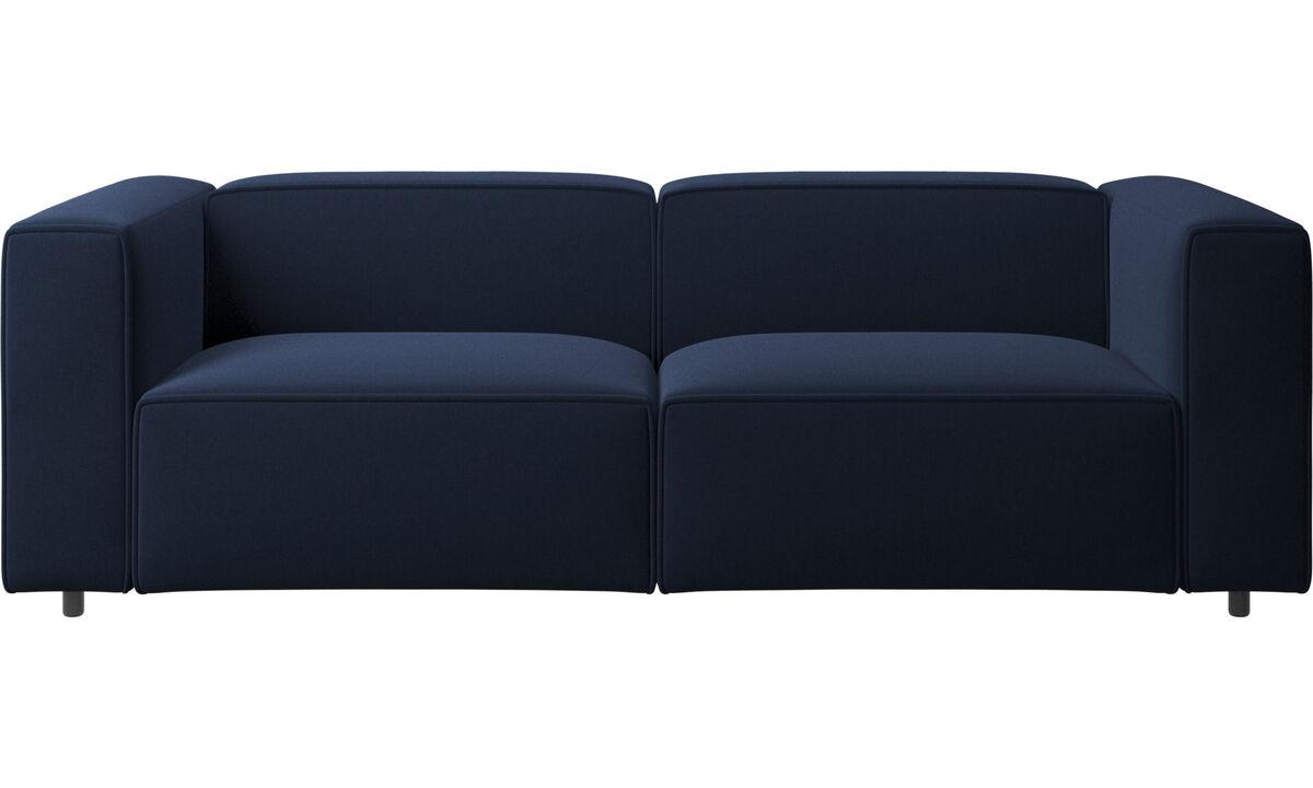 Sofás de 2 plazas y media - sofá Carmo - En azul - Tela
