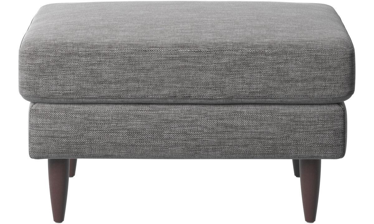 Footstools - Osaka footstool, regular seat - Grey - Fabric