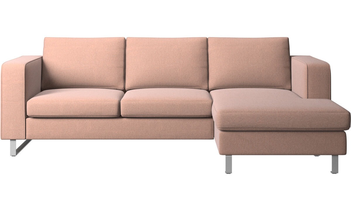 Chaise lounge sofas - Indivi 2 sofa with resting unit - Red - Fabric
