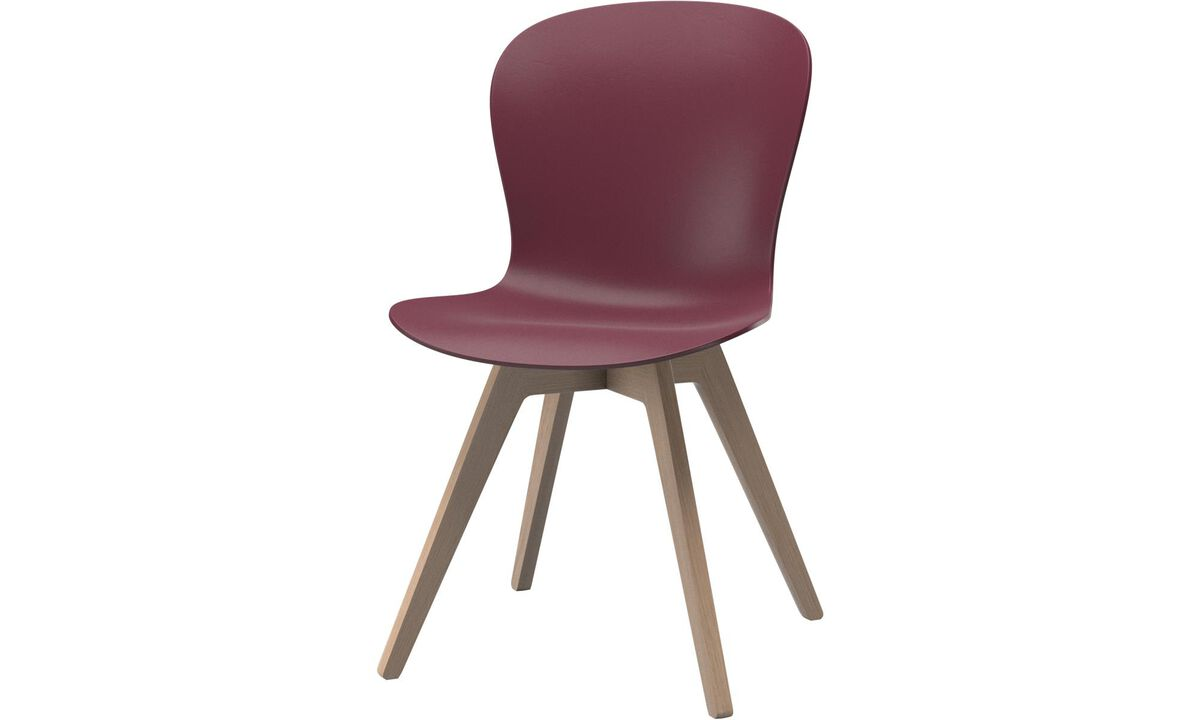 Dining chairs - poltroncina Adelaide - Rosso - Rovere
