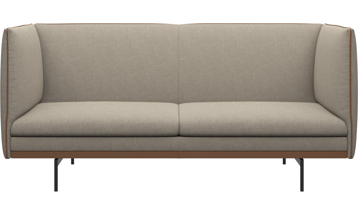 Двухместные диваны - Диван Nantes - Бежевого цвета - Tканькожа