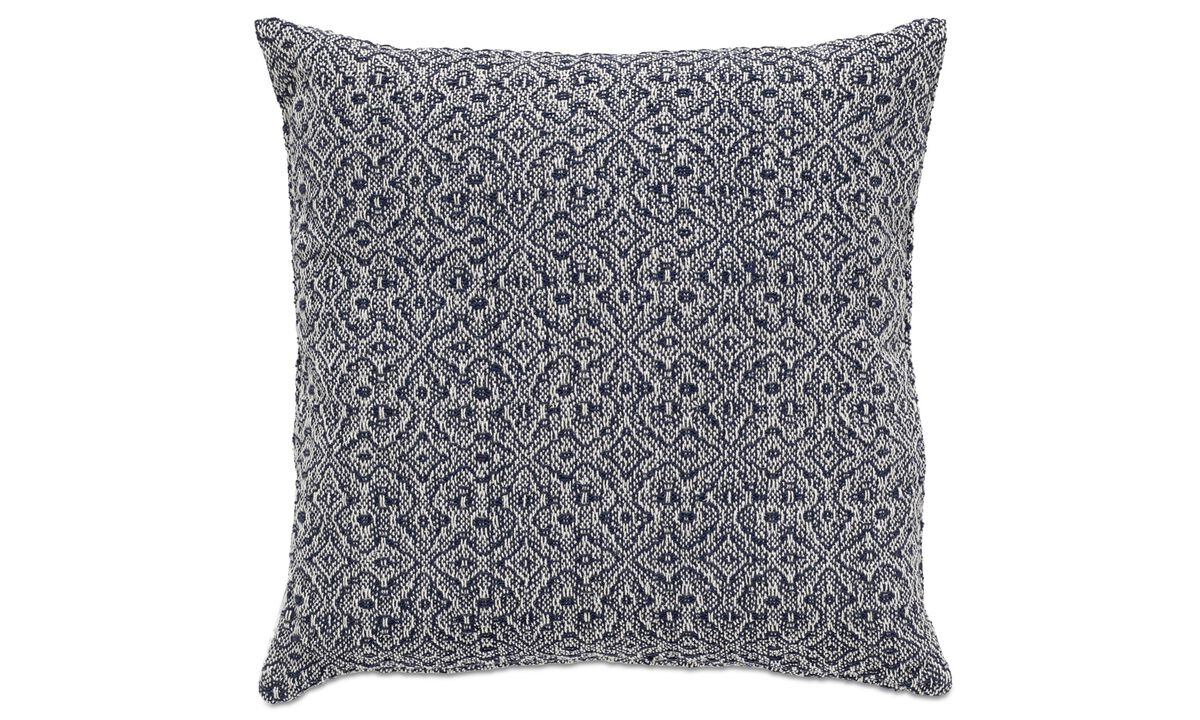 Cushions - Jacquard cushion - Blue - Fabric