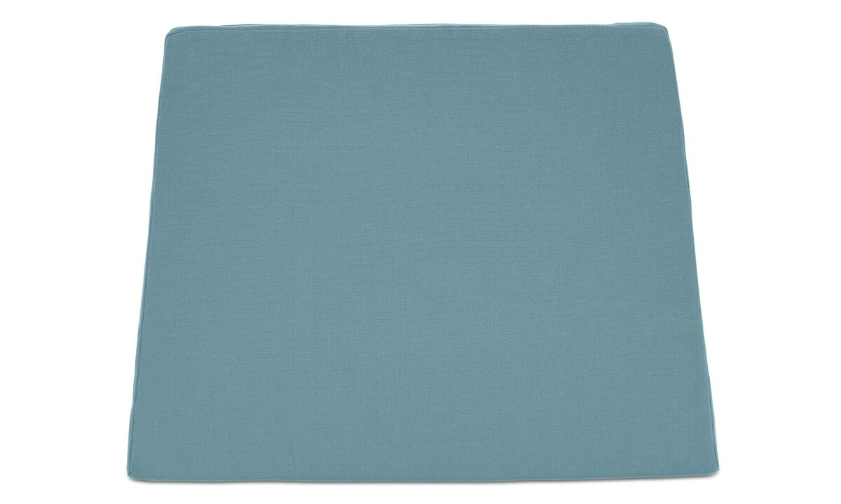 Outdoor chairs - seat cushion (for in- and outdoor use) - Blue - Fabric