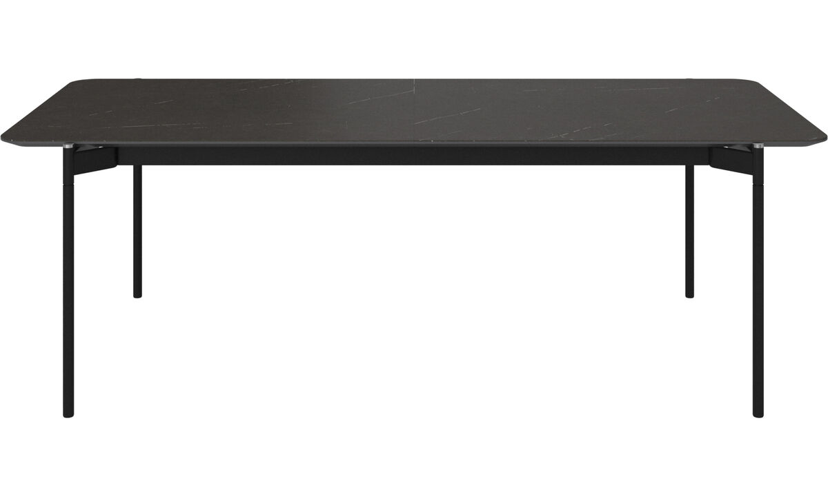 Dining tables - Augusta table with supplementary tabletop - rectangular - Black - Ceramic