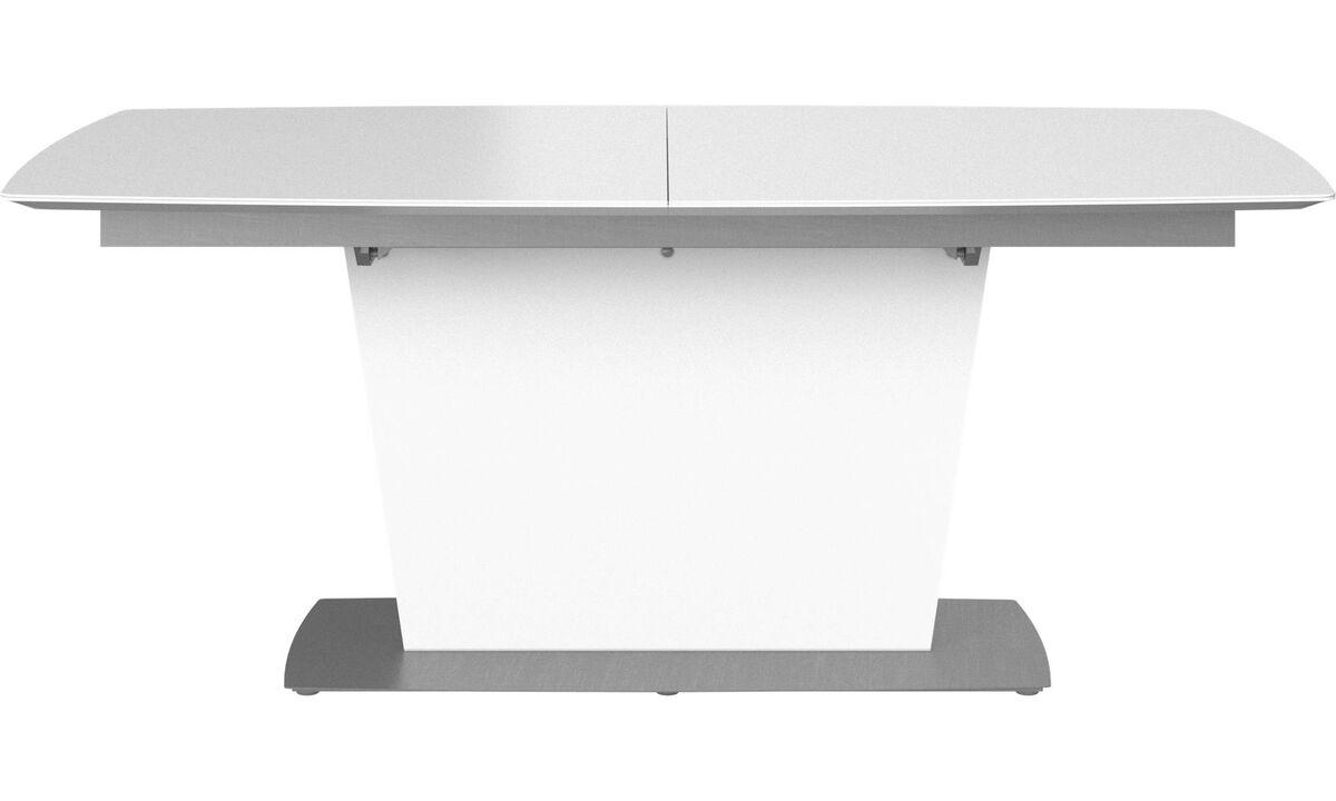 Esstische - Milano Tisch mit Zusatztischplatte - rechteckig - Weiß - Lack