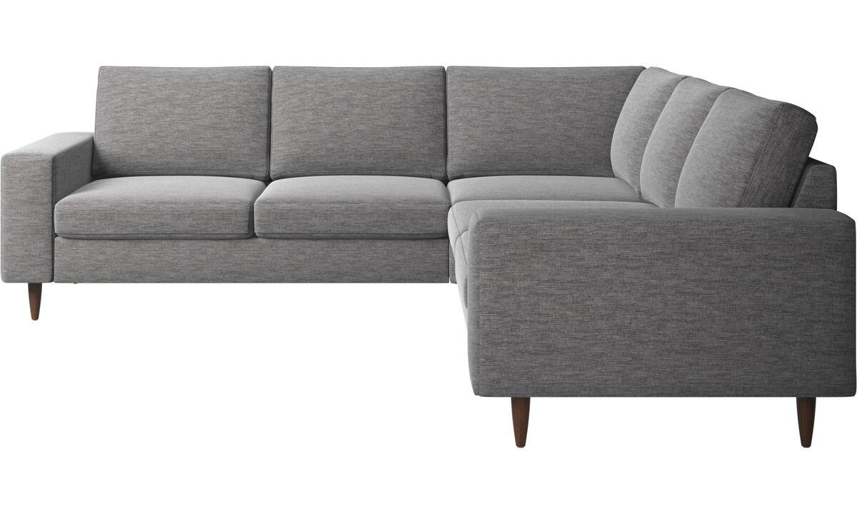 Sofás esquineros - sofá esquinero Indivi - En gris - Tela