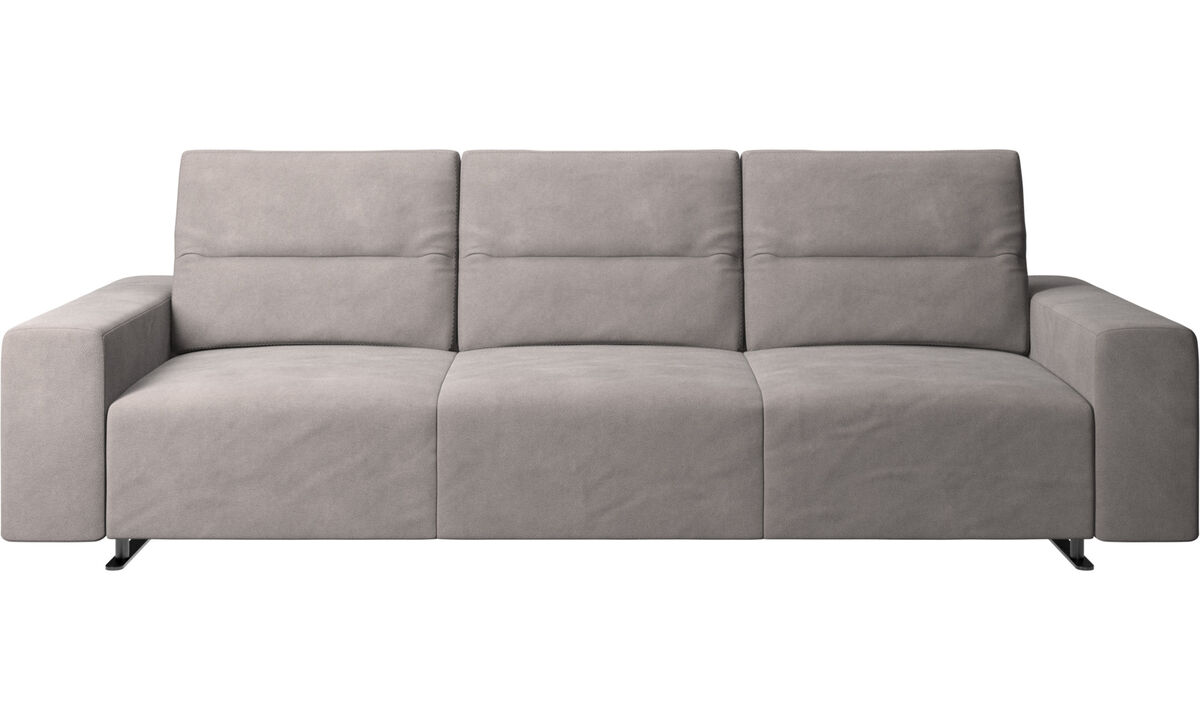 3 seater sofas - Hampton sofa with adjustable back - Gray - Fabric