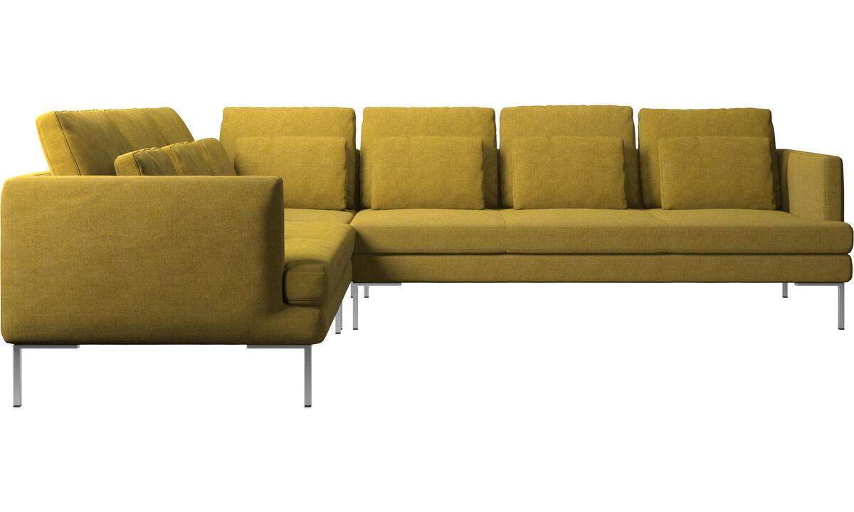 Sofás esquineros - sofá esquinero Istra 2 - En amarillo - Tela