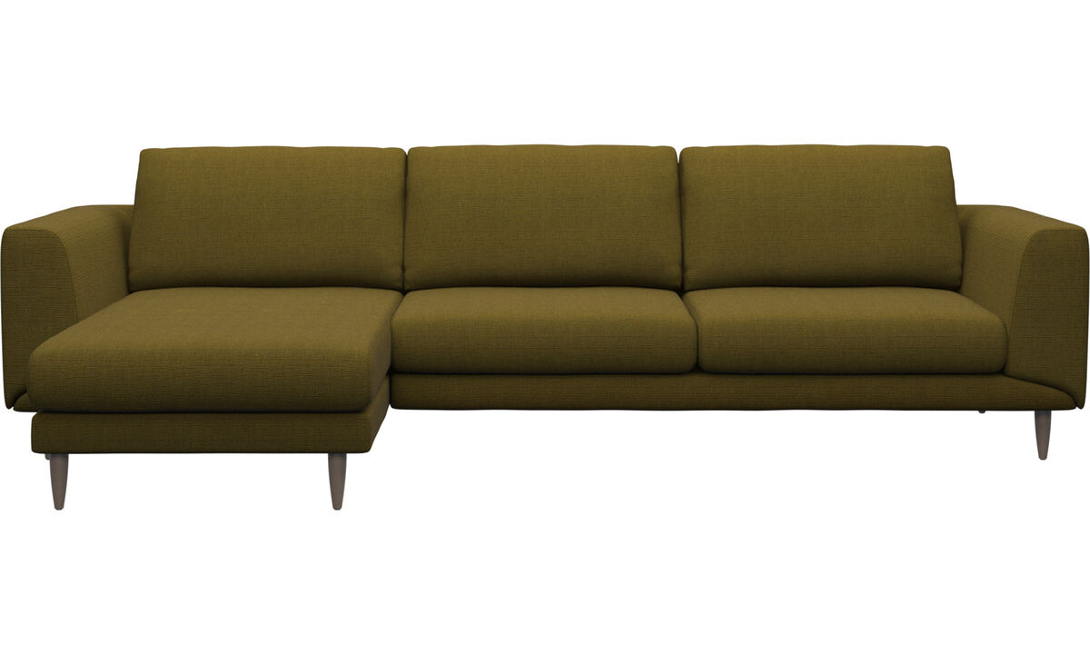 Chaise lounge sofas - Fargo sofa with resting unit - Yellow - Fabric