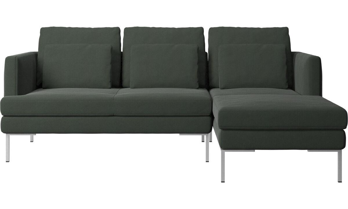 Sofás com chaise - sofá Istra 2 chaise-longue - Verde - Tecido